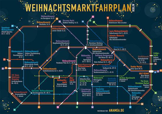 Weihnachtsmarktfahrplan Berlin van Anamea