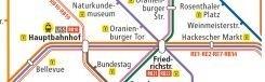 U-Bahn-plattegronden voor bars, hamburgertenten en kerstmarkten